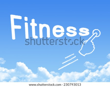 fitness message cloud shape  - stock photo