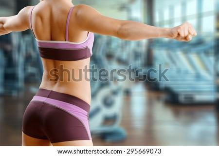 Fitness, training, gym. - stock photo