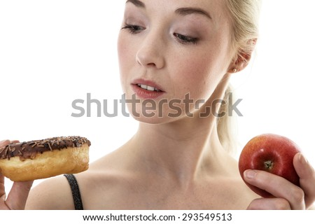 fitness woman trying to be healthy - stock photo