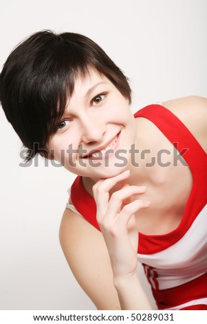 fitness woman. young and happy. - stock photo