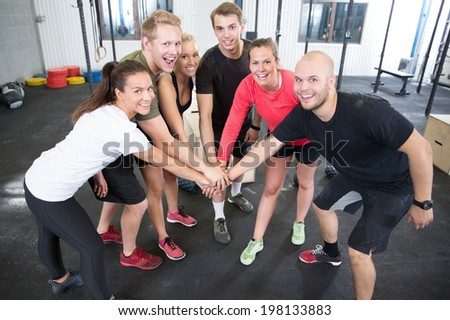 Fitness workout team motivation - stock photo