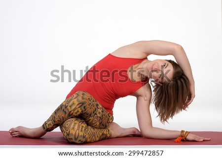 Fitness yoga woman working out. - stock photo