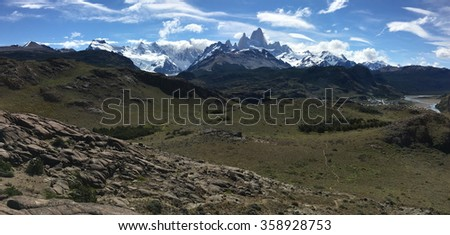Fitz Roy view in Argentina - stock photo