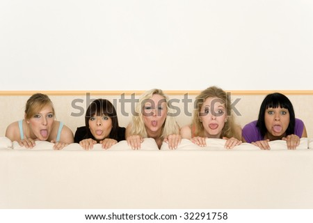 Five friends - stock photo