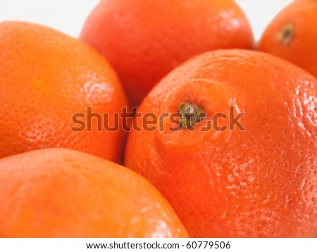 Five Honeybells on a table - stock photo