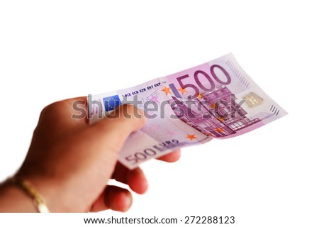 Five hundred euro note. - stock photo