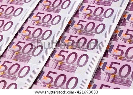 five hundred euro notes - stock photo