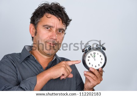 five minutes to midnight - stock photo