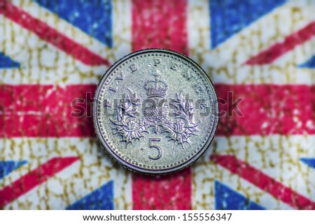 Five Pence - stock photo