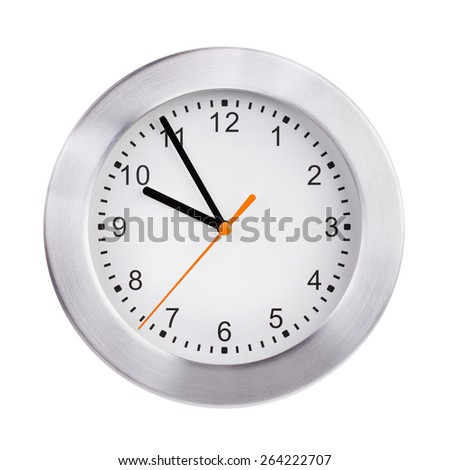 Five to ten on the big round dial - stock photo