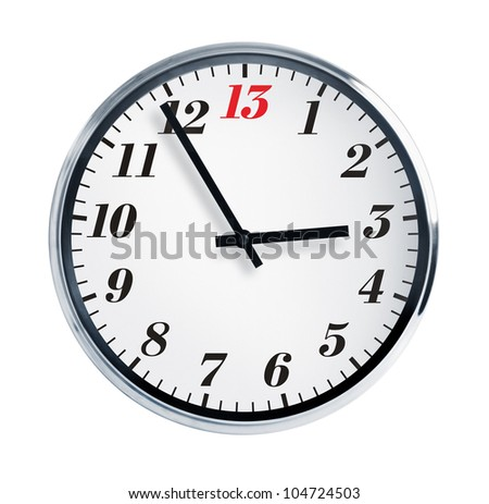 Five to thirteen hours on the wall - stock photo