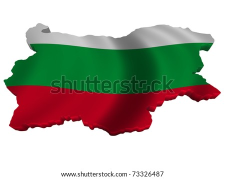 Flag and map of Bulgaria - stock photo