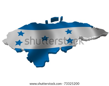 Flag and map of Honduras - stock photo