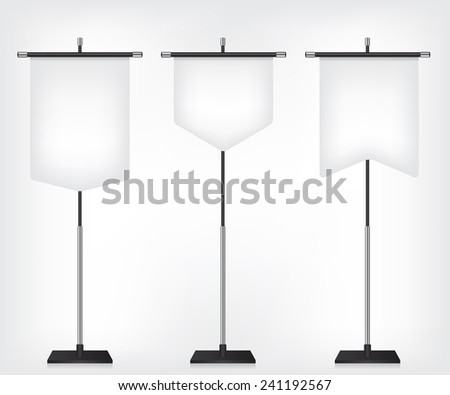 Flag banner different shapes - stock photo