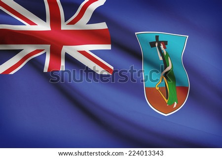 Flag blowing in the wind series - Montserrat - stock photo