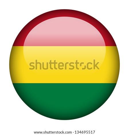 Flag button illustration - Bolivia - stock photo