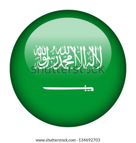Flag button illustration - Saudi Arabia - stock photo