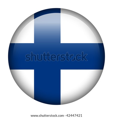 Flag button series of all sovereign countries - Finland - stock photo