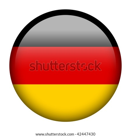 Flag button series of all sovereign countries - Germany - stock photo