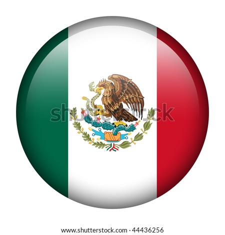 Flag button series of all sovereign countries - Mexico - stock photo