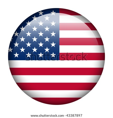 Flag button series of all sovereign countries - United States - stock photo