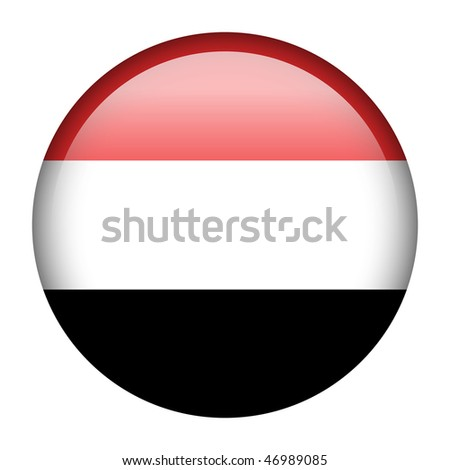 Flag button series of all sovereign countries - Yemen - stock photo