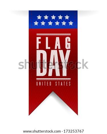 flag day banner sign illustration design over a white background - stock photo