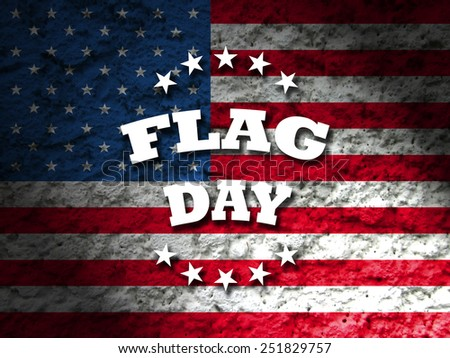 flag day greeting card american flag grunge background - stock photo