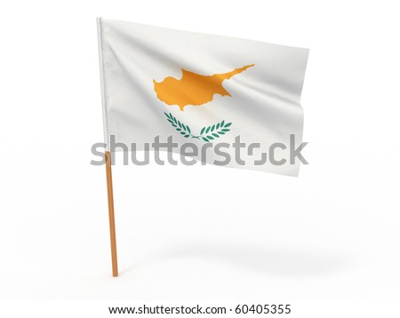 flag fluttering in the wind. Cyprus. 3d - stock photo