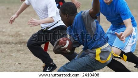 flag football - stock photo