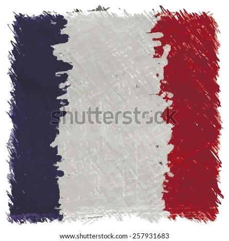 Flag France - stock photo