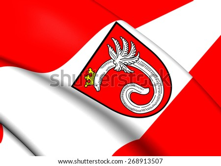 Flag of Ahlen, Germany. Close Up. - stock photo