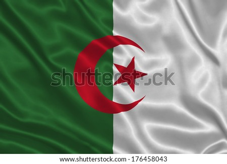 Flag of Algeria - stock photo