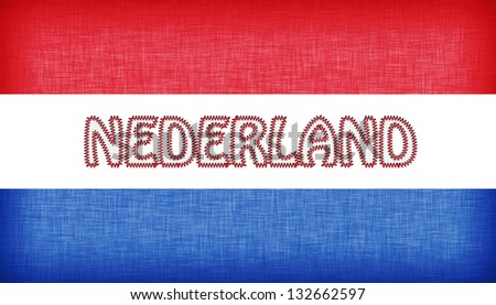 Flag of Argentina stitched with letters, isolated - stock photo
