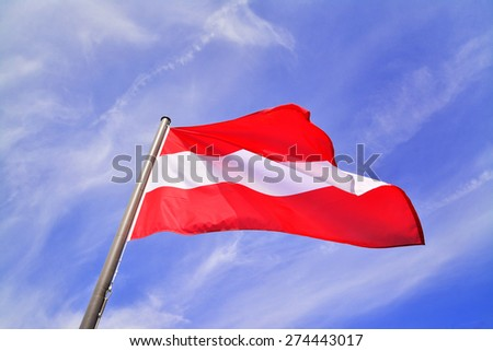 flag of austria - stock photo