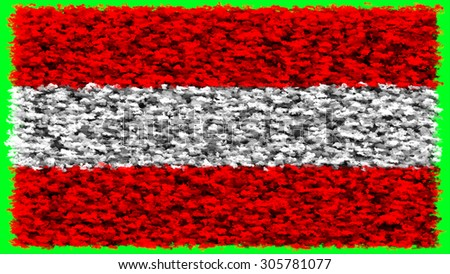 Flag of Austria, Austrian flag made from clouds. - stock photo