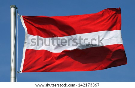 Flag of Austria on a sunny day - stock photo