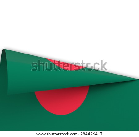 Flag of Bangladesh  rolled up like a dart on white background - stock photo