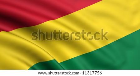 Flag Of Bolivia - stock photo