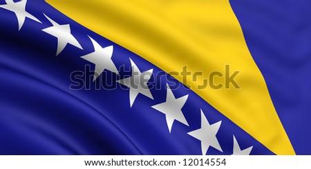 Flag Of Bosnia and Herzegovina - stock photo