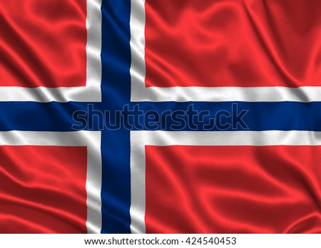 Flag of Bouvet Island - stock photo