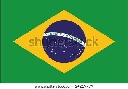 flag of brasil - stock photo