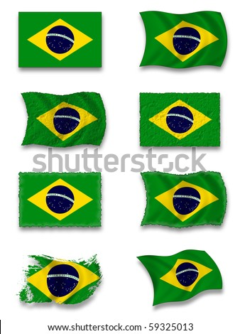 Flag of Brasilia - stock photo