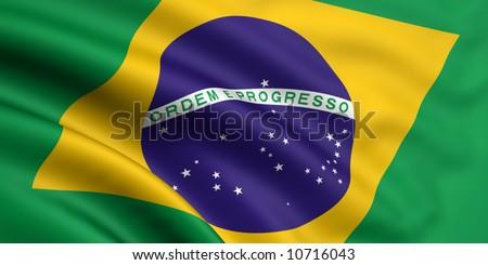Flag Of Brazil - stock photo