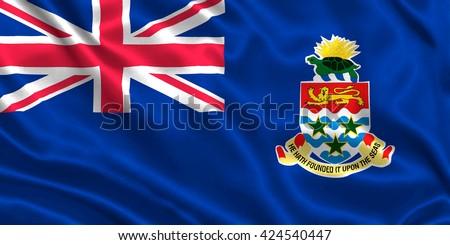 Flag of Cayman Islands - stock photo