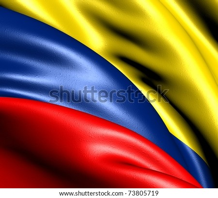 Flag of Colombia. - stock photo
