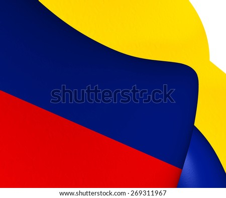 Flag of Colombia. Close Up. - stock photo