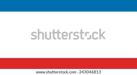 Flag of Crimea Republic, Russia - stock photo