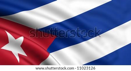 Flag Of Cuba - stock photo