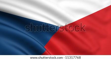 Flag Of Czech Republic - stock photo